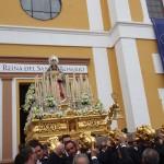 Ntra. Sra. del Rosario, Patrona de El Palo en su procesión de Gloria de 2016.