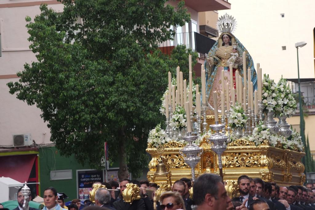 Ntra. Sra. del Rosario en su procesión de Gloria de 2