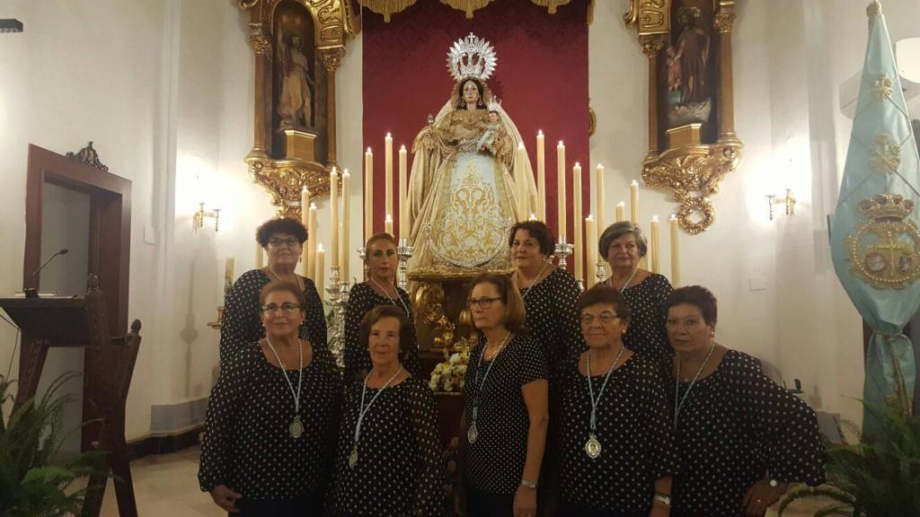 El coro Ntra. Sra. del Rosario ante nuestra Sagrada Titular
