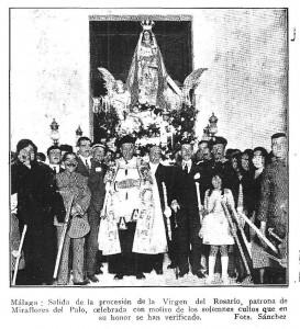 Procesión de Ntra. Sra. del Rosario en el año 1922