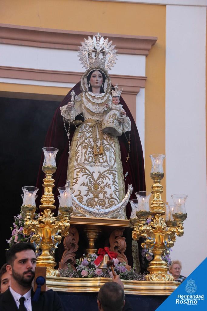 Andas de Rosario de nuestra Titular.