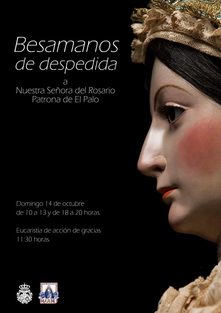 Cartel anunciador del besamanos de despedida de nuestra Titular.