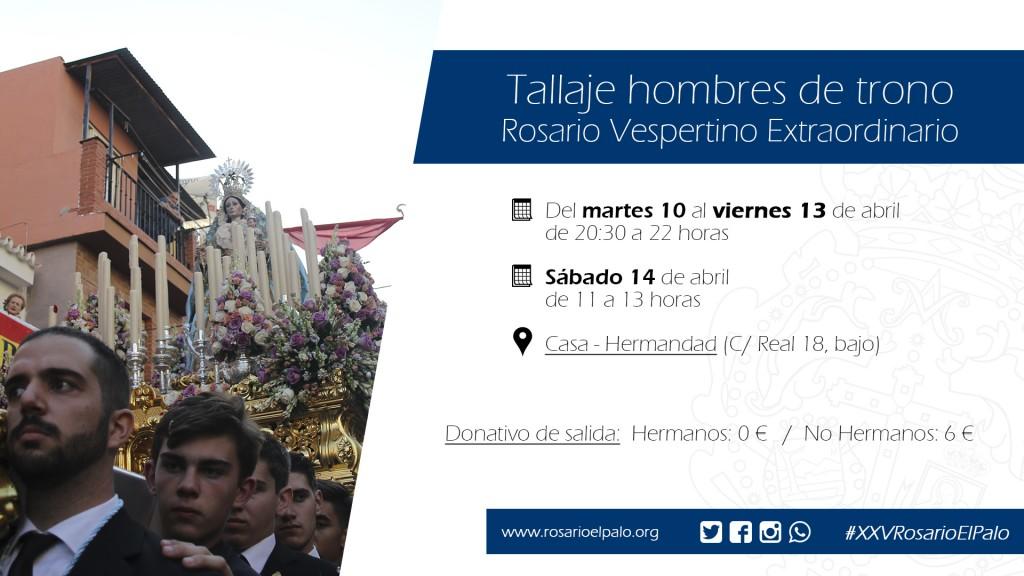 Rosario Vespertino - Tallaje HDT