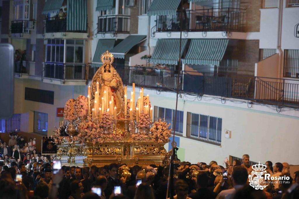 Nuestra Señora del Rosario, en su procesión de Gloria de 2018.