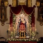 Ntra. Sra. del Rosario, Patrona de El Palo en su altar de cultos.