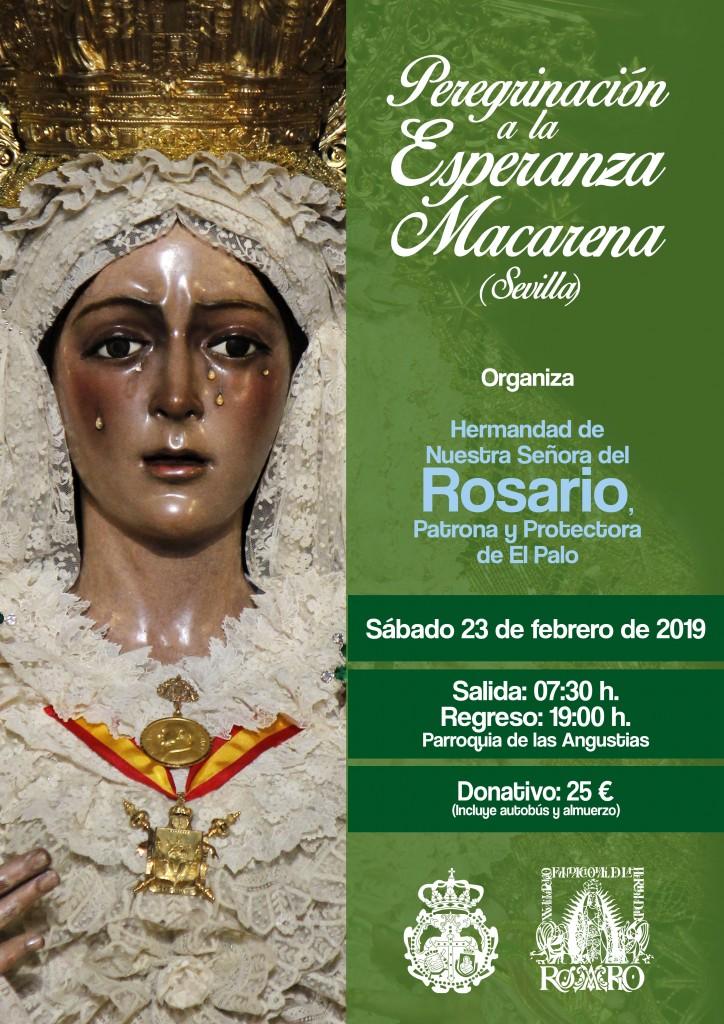 Cartel anunciador de la peregrinación a la Esperanza Macarena.