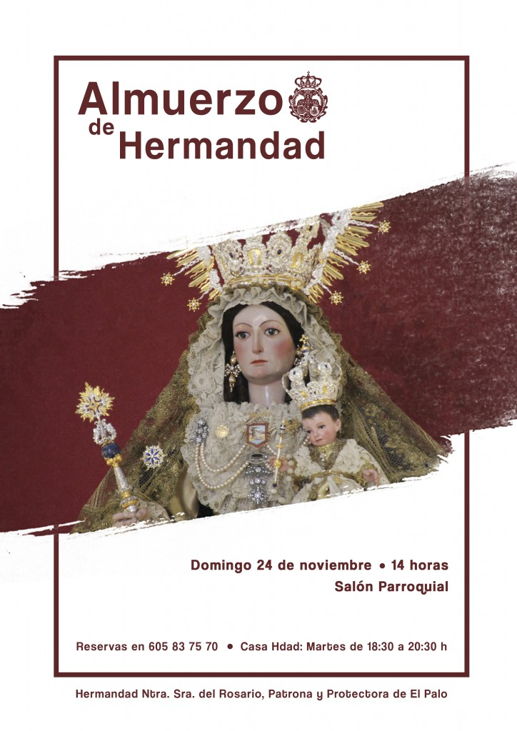 Cartel promocional del almuerzo de Hermandad 2019.