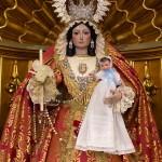 Ntra. Sra. del Rosario ataviada para la fiesta de la Presentación de Jesús en el Templo.
